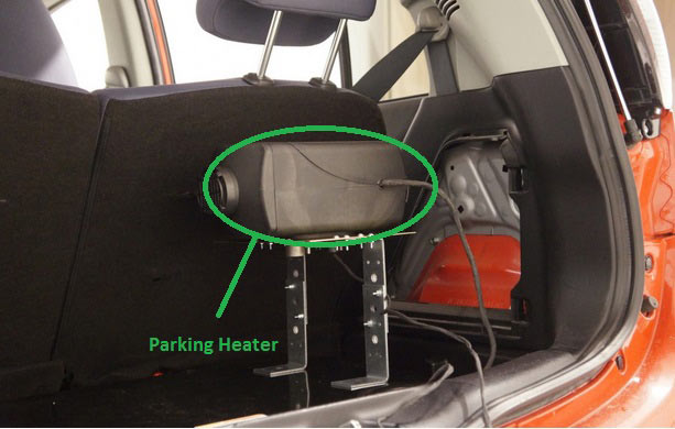 electric car boot parking heater