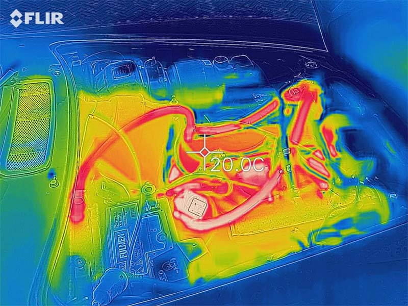 Heating Effect Diagram of Block Heater
