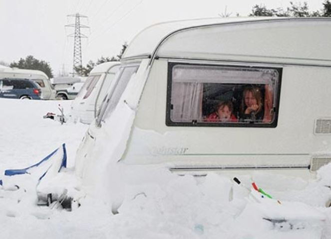 Family in recreational vehicle