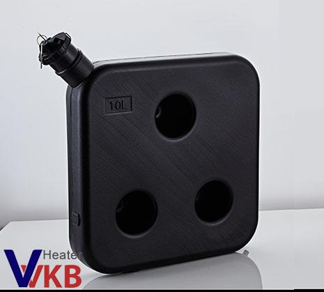 Black Diesel Fuel Tank with Lock