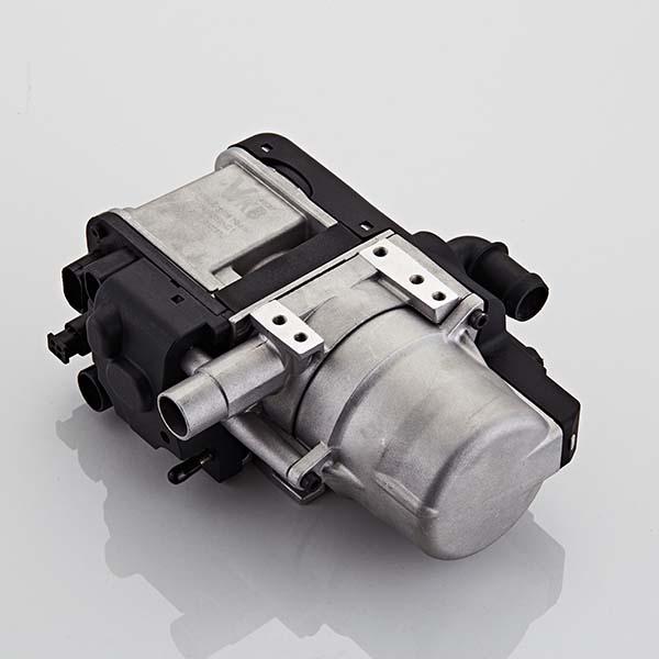 Top view of diesel hot water heating system